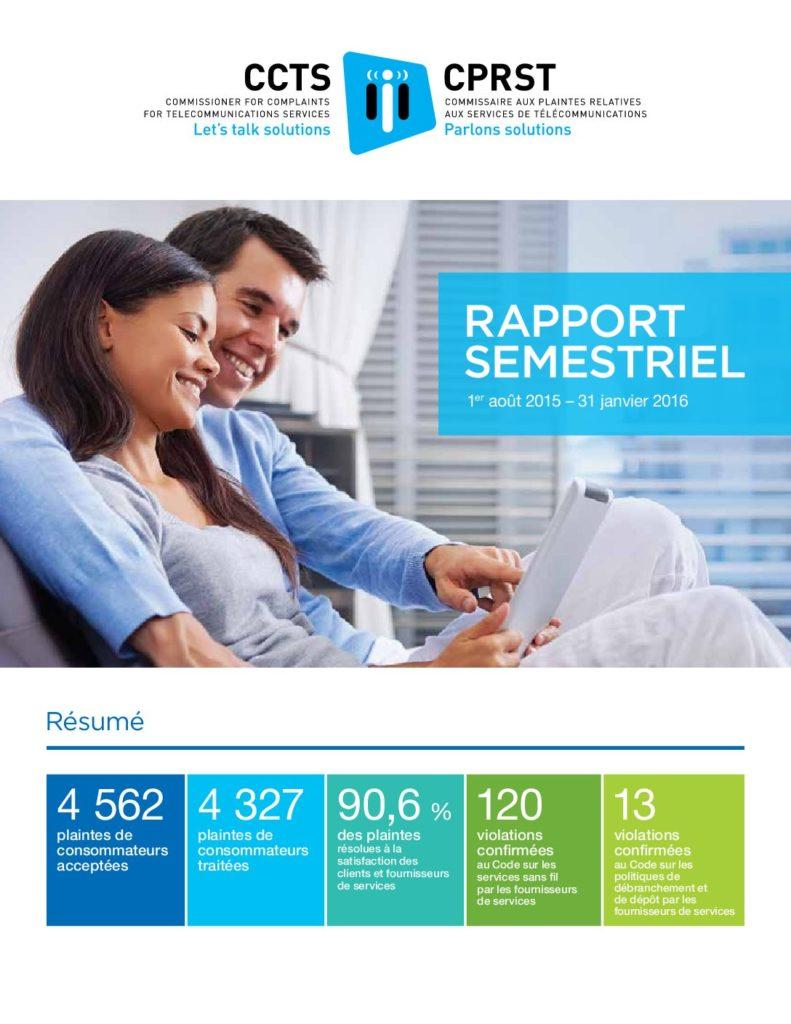 Rapport semestriel 2015-2016