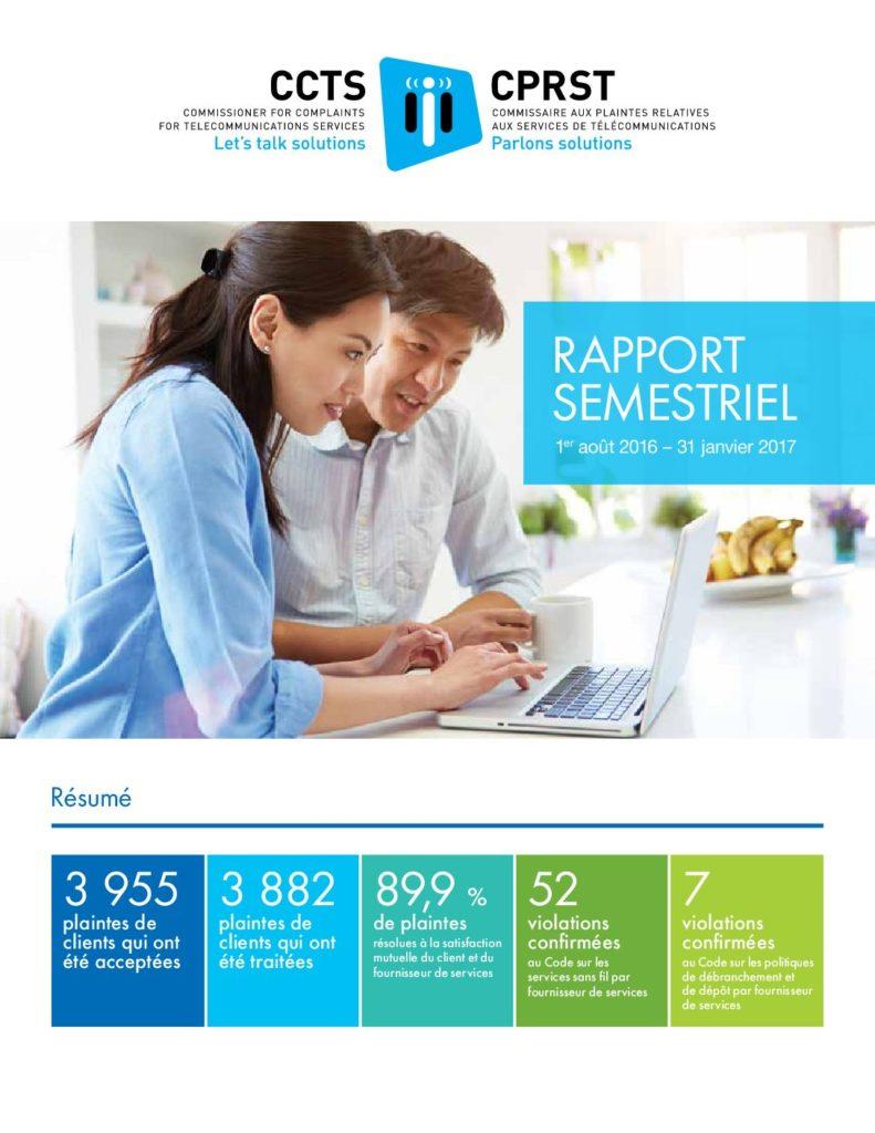 Rapport semestriel 2016-2017