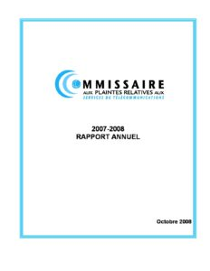 Rapport annuel 2007-2008