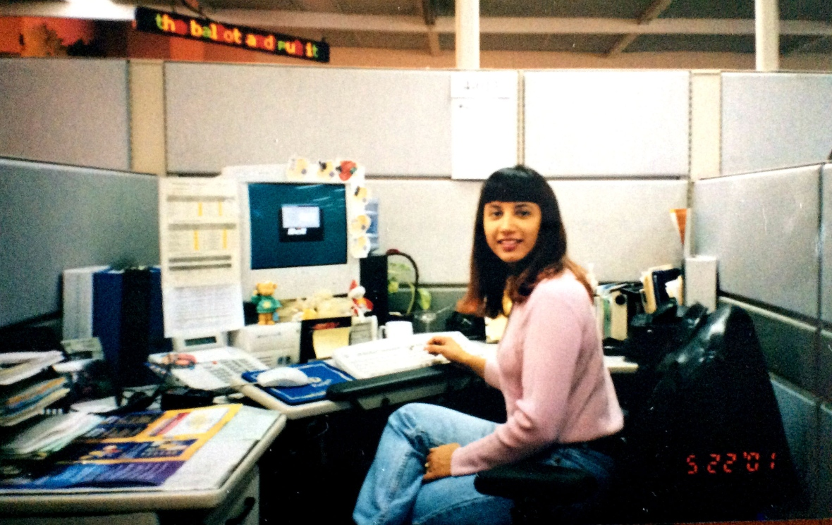Andrea Rizzo, seen here in a photo taken in 2001, around the time she was switched from Bell's billing department to sales. (Andrea Rizzo)
