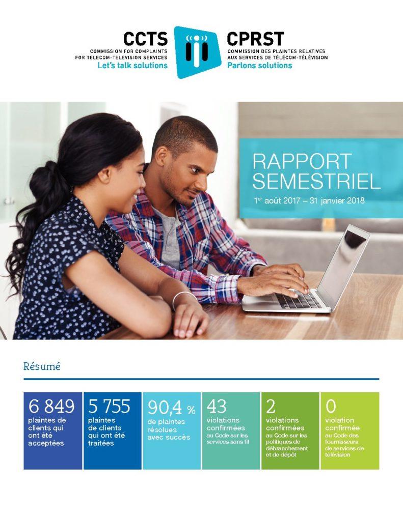 Rapport semestriel 2017-2018
