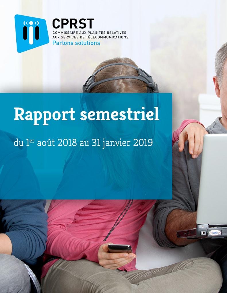 Rapport semestriel 2018-2019